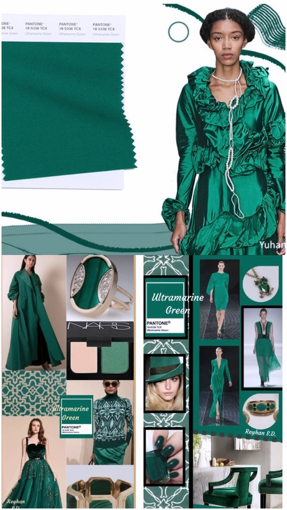 PANTONE 18-5338 Ultramarine Green