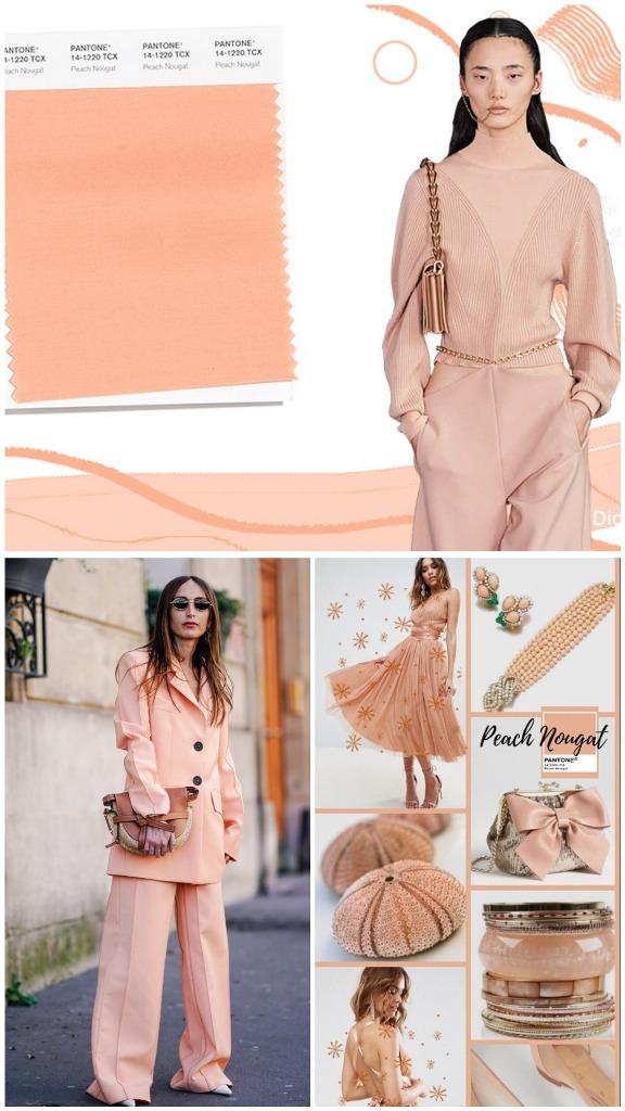 PANTONE 14-1220 Peach Nougat (Peach nougat)