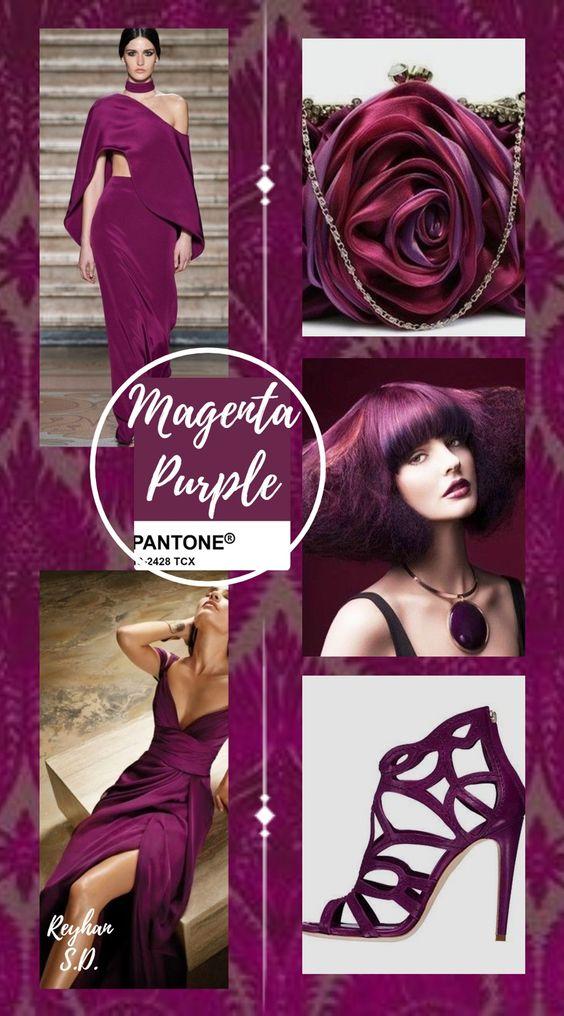PANTONE 19-2428 Magenta Purple