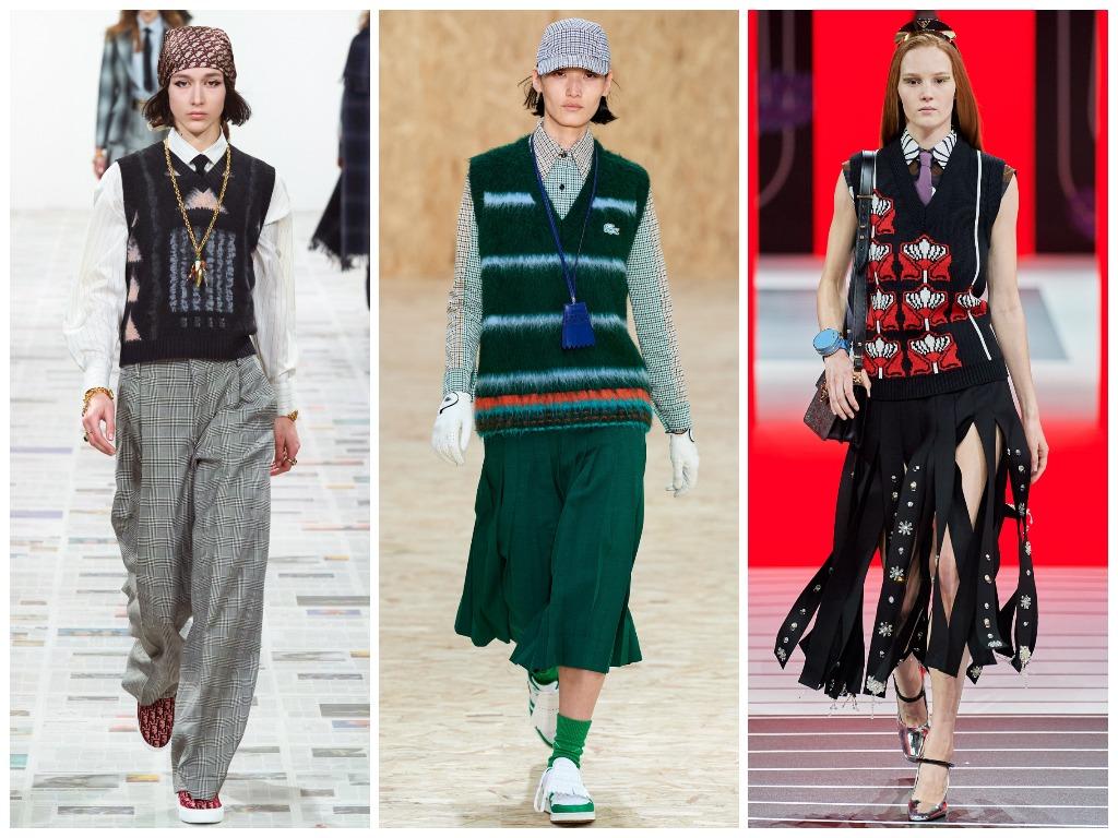 Christian Dior, Lacoste, Prada