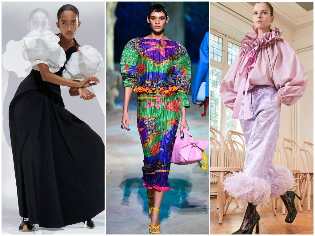 Loewe, Versace, Patou весна-лето 2021