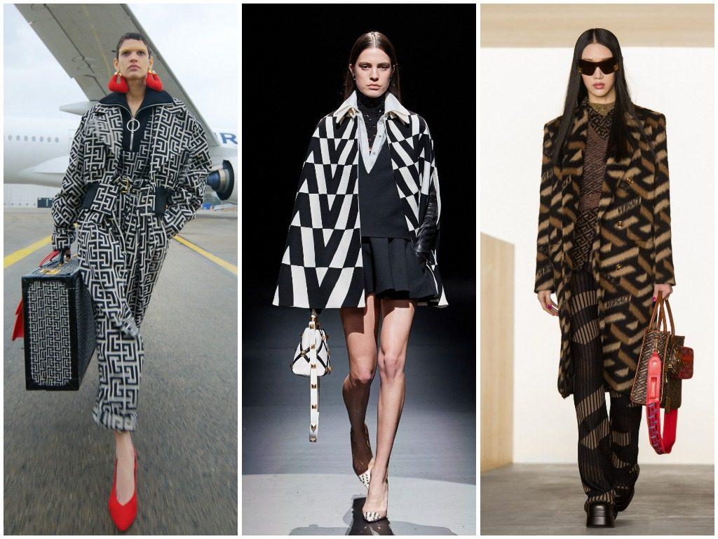 Balmain, Valentino, Versace осень-зима 2021-2022