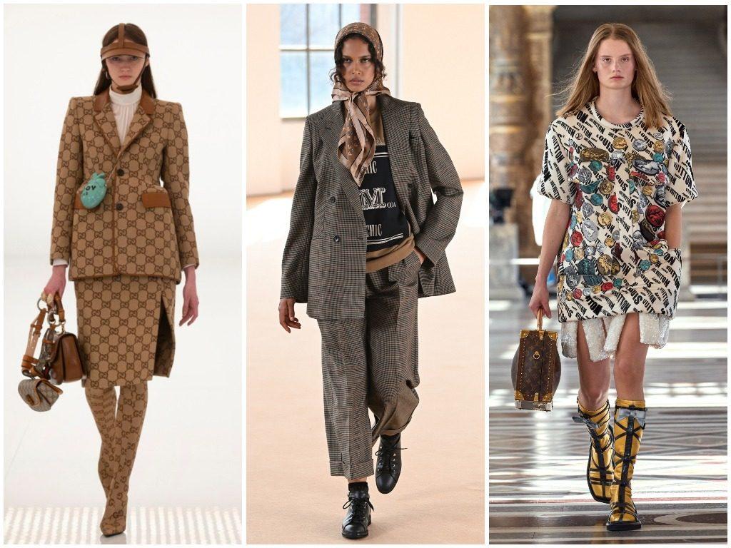 Gucci, Max Mara, Louis Vuitton осень-зима 2021-2022
