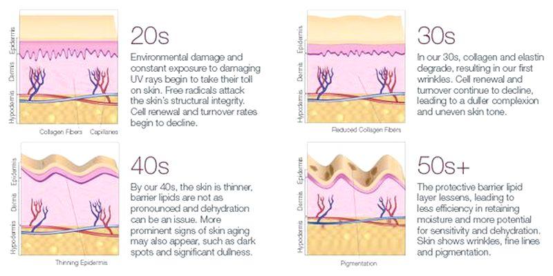 биологическое старение кожи лица